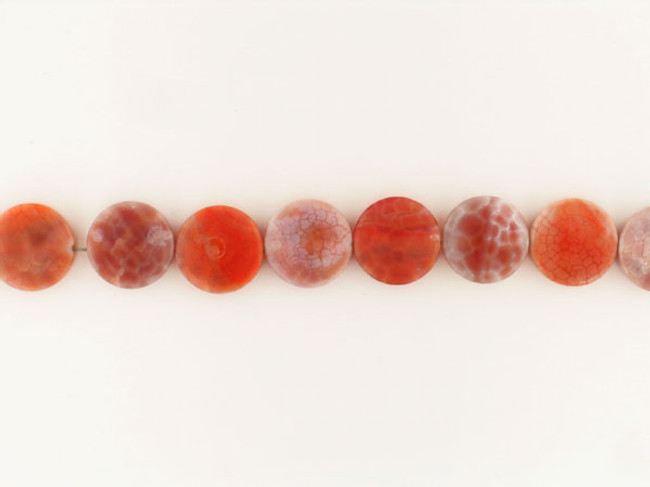 13 Count 15mm Fire Agate Polished Coins (Sale)