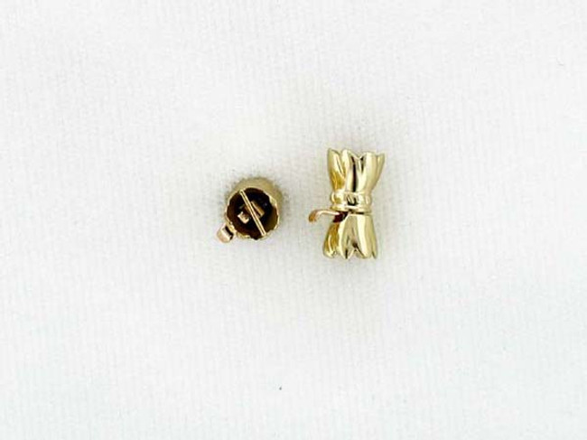 14kt Gold Scalloped Clasp - 11mm X 6mm X 6mm