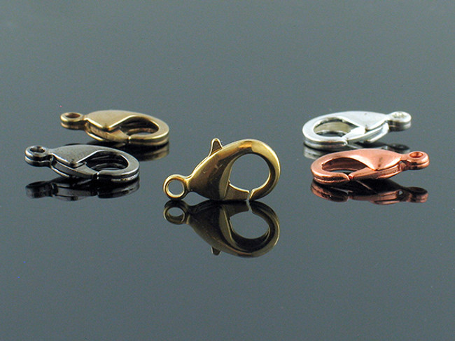 Brass, Copper, Gold Plated and Silver Plated Lobster Claw Clasp - (Price Varies)