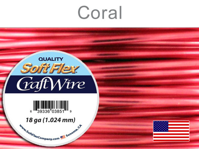20 Ft 18 Ga Silver Plated Coral Soft Flex Craft Wire (Closeout)