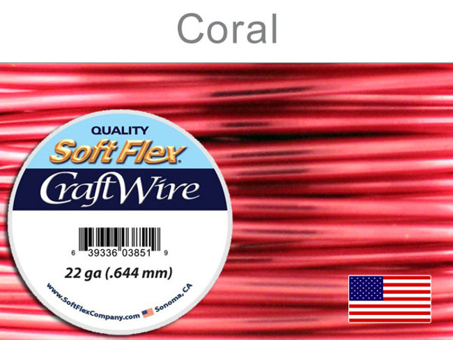 10 Yds 22 Ga Silver Plated Coral Soft Flex Craft Wire (Closeout)