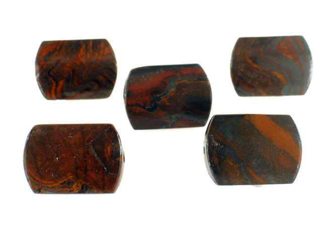 16 Count 25x18mm Tiger Skin Jasper Rectangle (Sale)