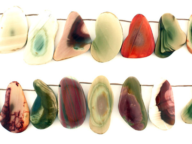 17 Count Varied Size Multicolor Imperial Jasper Polished Slices (Sale)