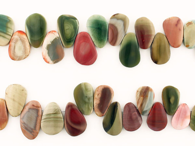 36 Count Varied Size Multicolor Imperial Jasper Polished Slices (Sale)