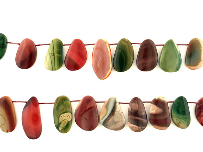20 Count Varied Size Multicolor Imperial Jasper Polished Slices (Sale)