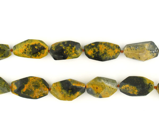 14 Count Black & Yellow Agate Simple Cut Nuggets (Sale)