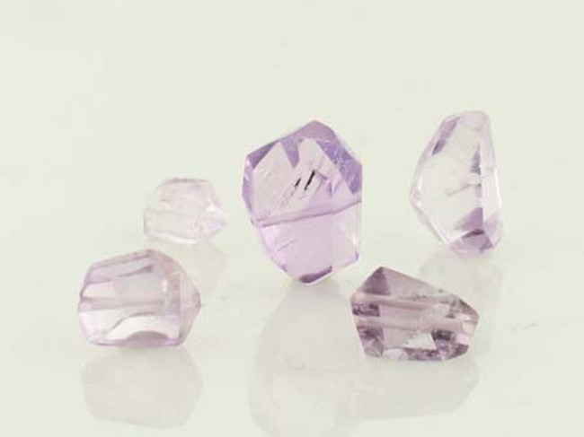 5 Count Light Amethyst Simple Cut Nuggets (Sale)