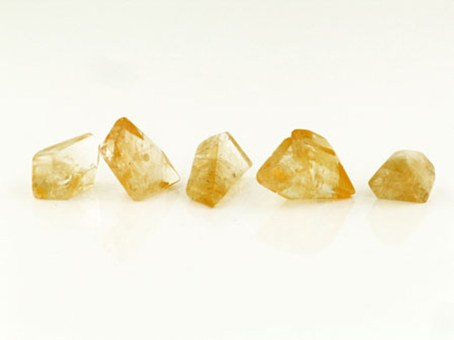 5 Count 6-14mm Citrine Simple Cut Nuggets (Sale)