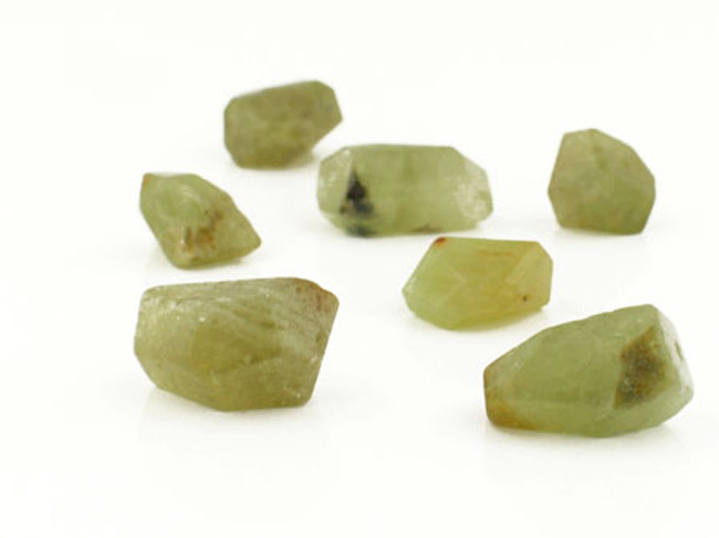 7 Count 6-14mm Green Garnet Simple Cut Nuggets (Sale)