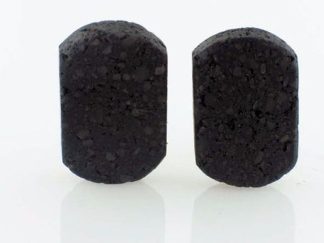 28 Count 14mm Capsules Double Drilled Hole Indonesian Lava Rock (Sale)