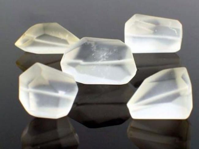 Apx 16 Count Clear Quartz Matte Simple Cut Nuggets (Sale)