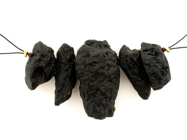 5 Count Varied Size Natural Tektite  Rough Nuggets (Sale)