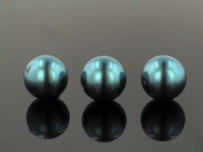 23 Count 18mm Dark Teal Shell Pearls (Sale)