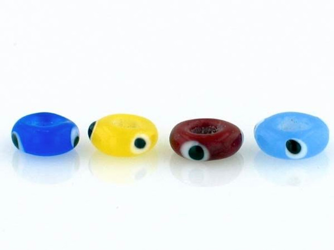 12 Count 8mm Opaque Colors Lampwork Stringer Donut (Closeout)