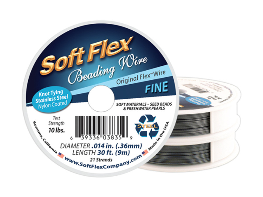 Soft Flex Beading Wire - Fine Diameter .014in/.36mm (Prices Vary by Spool)