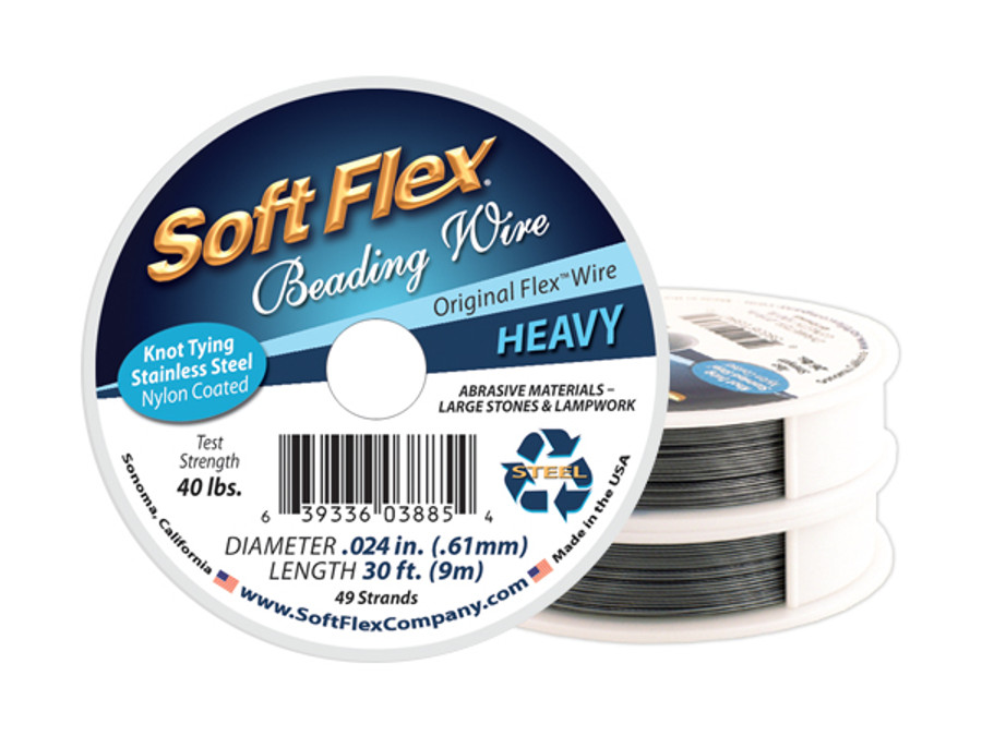 Soft Flex Beading Wire - Heavy Diameter .024in/.61mm (Prices Vary by Spool)