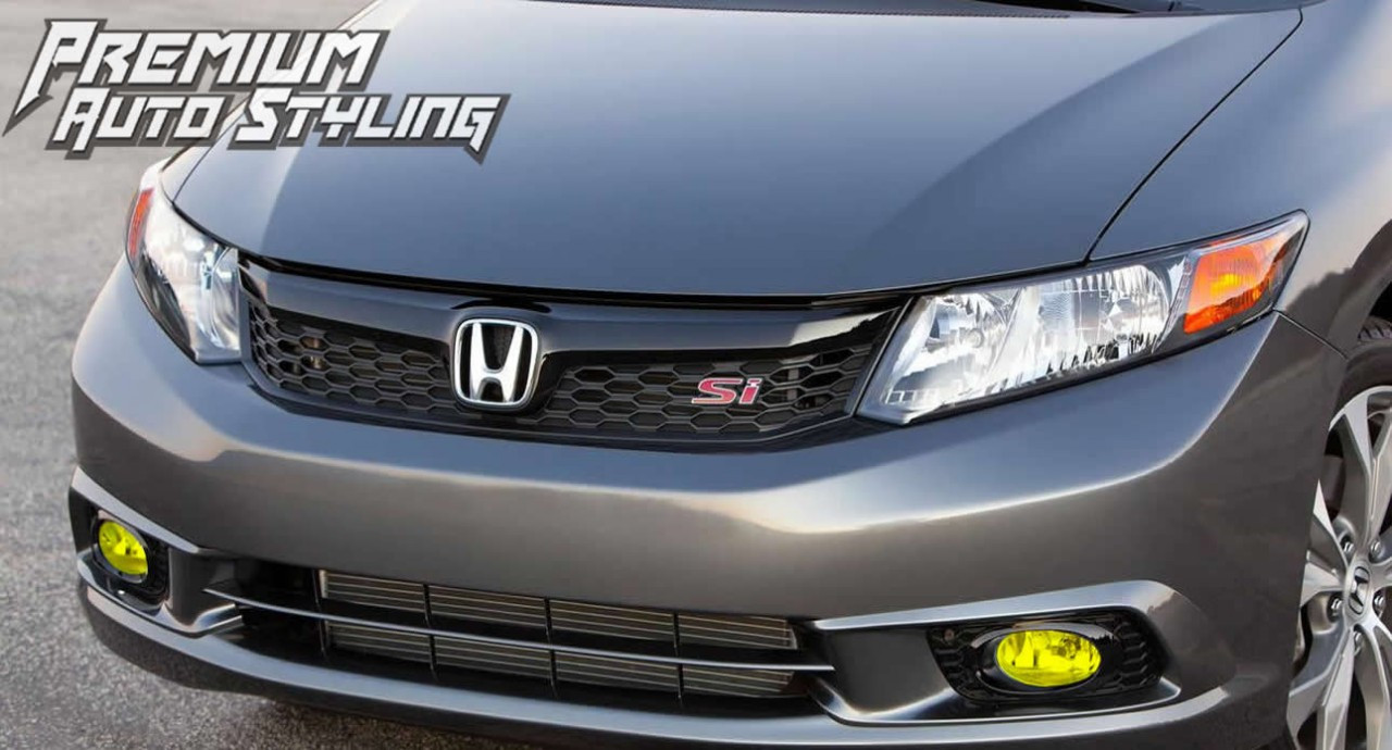 ... 2012 Honda Civic SI Yellow Fog Light Overlays