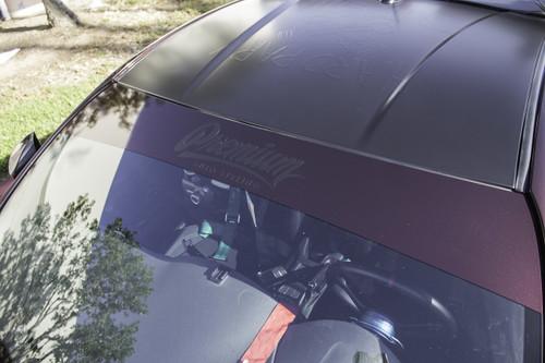 Premium Signature Window Banner ( Gloss Black Rose / Satin Black )