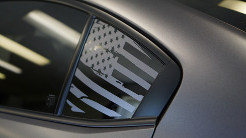 Distressed Flag Quarter Window Decal (2015-2018 WRX/STI )