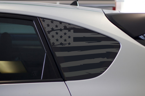 Distressed Flag Quarter Window Decal (2008 - 2014 IMPREZA WRX / STI HATCHBACK)