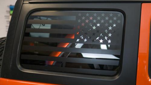 American Flag Quarter Window Decal Set (2018+ Jeep JL)