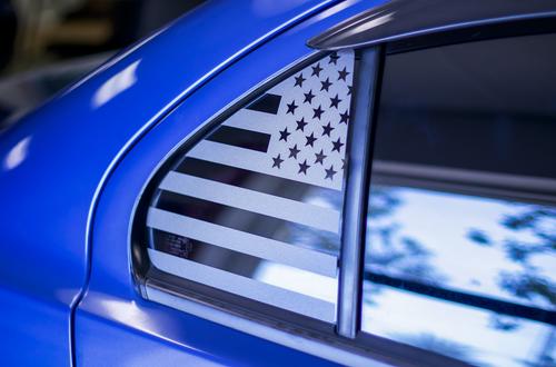 American Flag Quarter Window Decal Set (2007-2017  LANCER / EVO X)