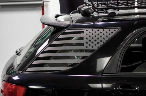 American Flag Quarter Window Decal Set (2002-2007 Impreza WRX Wagon)