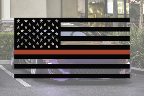 Universal Thin Red Line Flag Decal Set