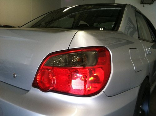 Smoked Tail Light Overlays 2004 2005 Wrx Sti Impreza