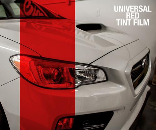 Red Tint - Bulk Tint Film 12-inch wide  (Headlight, Tail Light, Fog Lights)