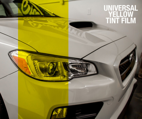 Yellow Tint - Bulk Tint Film 12-inch wide  (Headlight, Tail Light, Fog Lights)