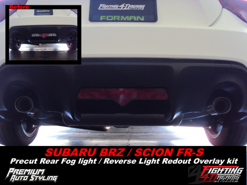 Rear Bumper Reverse Light Red Out Vinyl Overlay (2013-2017 Scion FRS)