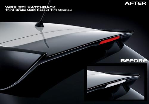 Subaru WRX STI Hatchback Third Brake Light Red Out Overlay
