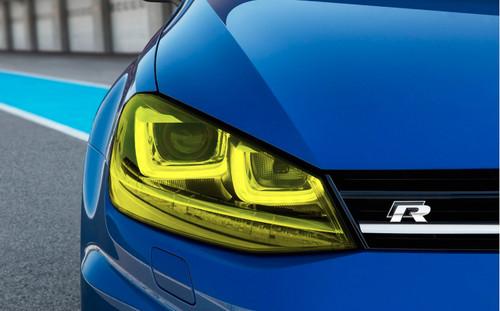 Yellow Headlight Tint Overlays (2014-2018 Golf & GTI)