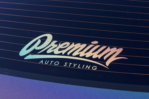 "14"" Premium Signature Logo Decal (LIMITED EDITION HOLOGRAPHIC)"