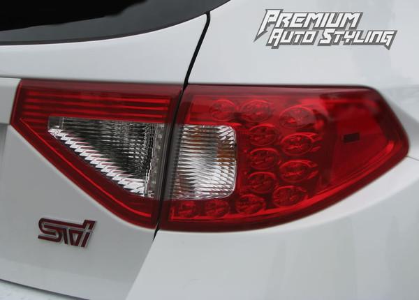 2008-2014 Subaru WRX & STI Hatchback Red Tail Light Tint ...