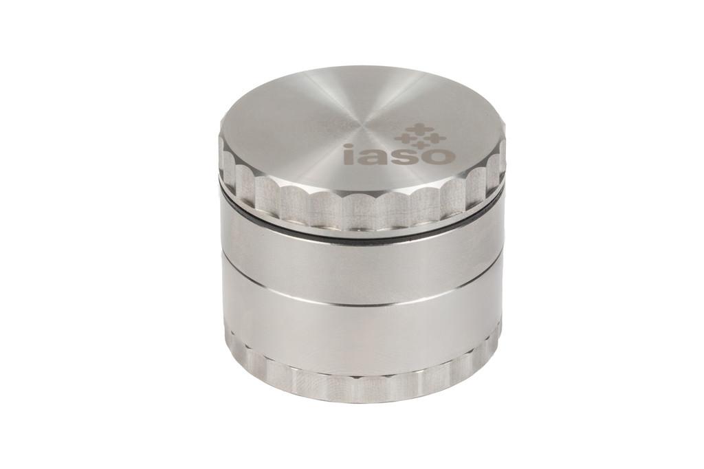 Four Piece Stainless Steel Grinder w/ StashBox