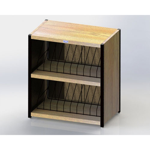 """Level I 632 Series Deluxe Counter Chart Rack. Side-opening. 20 capacity (2 x 10) vertical storage for 1"""" - 2"""" ringbinder charts. Classic Oak."""