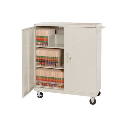 Delux Medical Record 3 Shelf Cart