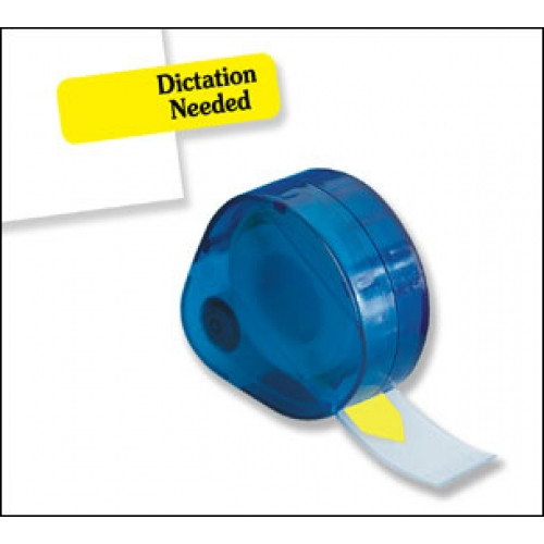 """Dictation Needed"" 120 Flags Redi-Tag Arrow Printed Yellow"