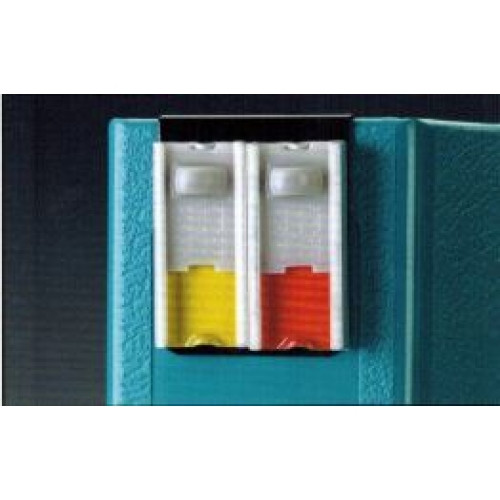 """Stat-Chek Alert Clips are two-color alerts that clip securely onto the spine of 1"""", 1-1/2"""", 2"""", 3"""", and 4"""" ringbinder charts. (4160)"""