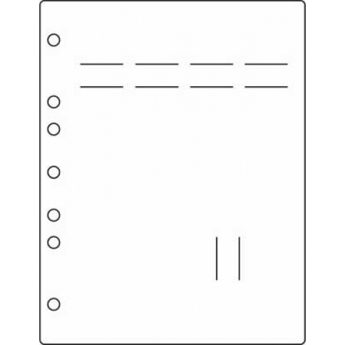 Side Open Stat-Flag Divider Page, No Tab Standard, White, Antimicrobial (M2250)