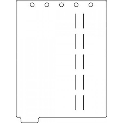 Top Opening Poly Divider Page Blank Tab (M2261)