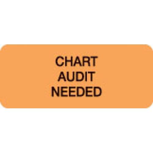 """CHART AUDIT NEEDED"" Orange Fluor. Label 2 1/4"" x 15/16"""