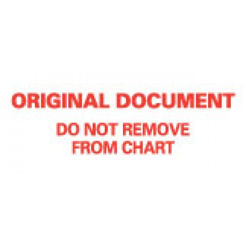 """ORIG DOCU DO NOT REMV FRM CHART"" White wih Red Label 2 1/4"" x 15/16"""