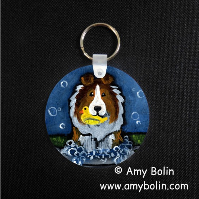 KEY CHAIN · THE WASH TUB · SABLE SHELTIE · AMY BOLIN