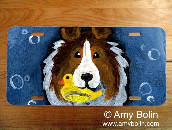 LICENSE PLATE · THE WASH TUB · SABLE SHELTIE · AMY BOLIN
