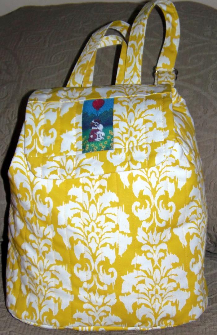 "Handmade quilted Purse/Backpack     ""'Sadie""   Saint Bernard     By Dawn Johnson"