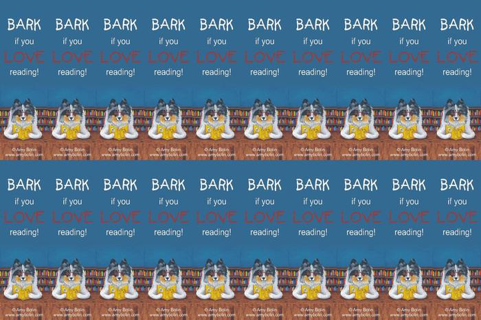 "FELT BOOKMARKS · DOG TAILS VOL 5 ""BARK IF YOU LOVE READING"" · BLUE MERLE SHELTIE · AMY BOLIN"