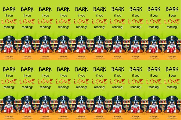 "FELT BOOKMARKS · DOG TAILS VOL 4 ""BARK IF YOU LOVE READING"" · BERNESE MOUNTAIN DOG · AMY BOLIN"